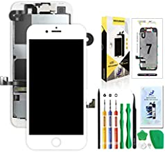 Screen Replacement for iPhone 7 White,Hkhuibang 4.7'' Upgraded LCD Display 3D Touch Screen Digitizer Full Frame Assembly with OEM Front Camera Proximity Sensor Earpiece Speaker Repair Tool