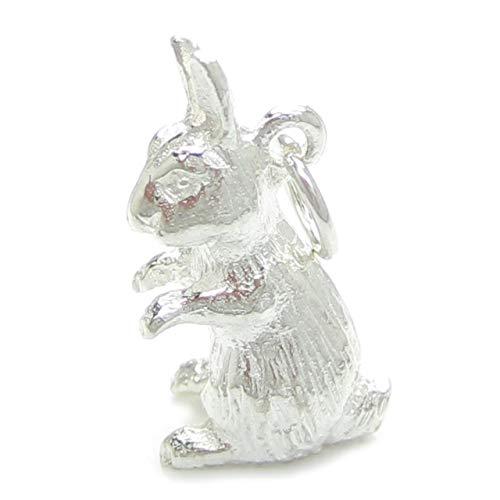 Hase Sterling Silber Anhänger .925 x 1 Hase Kanninchen Hasen Hasen Charms idbu0139