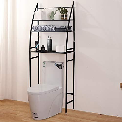 "Fit Right 3-Shelf Bathroom Organizer Over The Toilet Storage, Bathroom Shelf Over Toilet, 27""L x 10""W x 66""H (Black)"