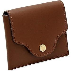 財布 レディース ミニ財布 二つ折り財布 革 薄い 薄型 軽い 軽量 コンパクト 使いやすい ブランド 三つ折り (ブラウン)