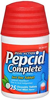 Pepcid Complete Tablets Cool Mint Flavor - 25 ct, Pack of 2