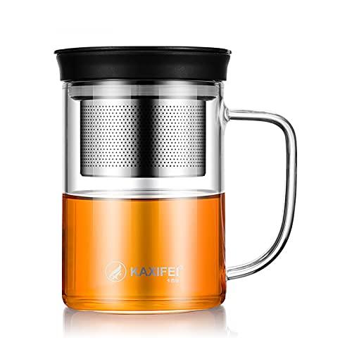Botella de agua de vidrio de 500 ml de vidrio borosilicato taza de café con aislamiento para el hogar taza de oficina con mango taza de viaje infusor de té taza de agua