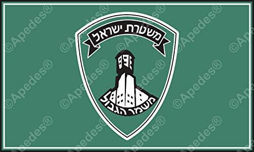 Apedes Israel Bordüre Polizei (magav) Computer Tablet Aufkleber Aufkleber 7,6x 12,7cm