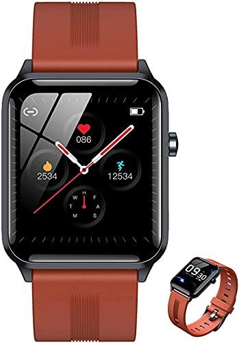 Pulsera inteligente de seguimiento de la aptitud de los deportes, monitor podómetro, reloj de la actividad del cronómetro del contador de calorías, color naranja
