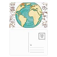 アースブルーオーシャン黄色の世界 公式ポストカードセットサンクスカード郵送側20個