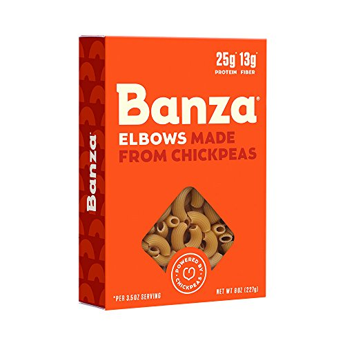 Banza Chickpea Pasta – High Protein Gluten Free Healthy Pasta – Elbows (8 oz)