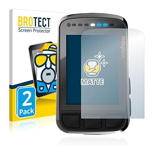 BROTECT 2X Entspiegelungs-Schutzfolie kompatibel mit Wahoo Elemnt Bolt V2 GPS Displayschutz-Folie Matt, Anti-Reflex, Anti-Fingerprint