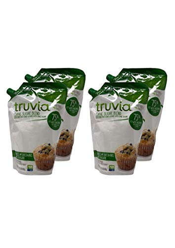 Truvia Cane Sugar and Stevia Blend 1.5 lb. Bag (4 Pack,Cane Sugar Blend)