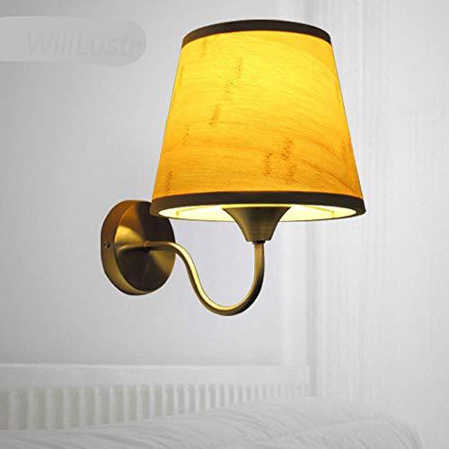 Led-wandlamp, bamboe, hal, hal, teahouse, bar, nachtkastje, pastore, van hout, lamp, wandlamp