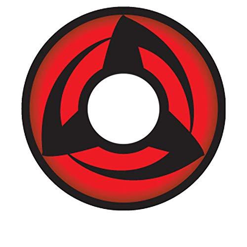 MATLENS - EOS Crazy Motiv Cosplay Kontaktlinsen mit Stärke Naruto 3 Kakashi Hatake 2 Linsen 1 Kontaktlinsenbehälter 1 Pflegemittel 50ml