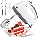 Electric Hand Mixer, 7-Speeds Lightweight Hand-Held Electric Mixer, Portable Powerful Kitchen Mixer Stainless Steel Egg Whisk with Egg White Separator, Egg Sticks & Dough Sticks for Baking & Cakes