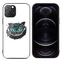 iPhone12proケース アリス チェシャ猫 アイフォン12proカバー iPhone12promax用ケース アイフォン12promax用カバー ガラス背面 二層構造 黄変防止 クリアケース 超耐衝撃 レンズ保護 滑り止め 2020年