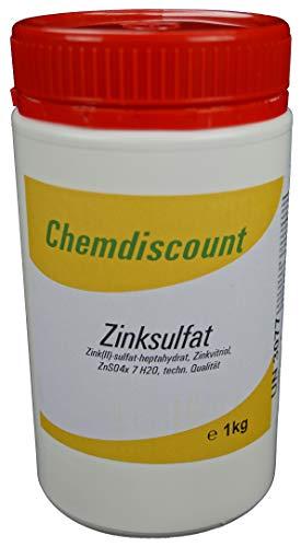 Chemdiscount 1kg Zinksulfat ZnSO4 Zinkvitriol (-Heptahydrat)