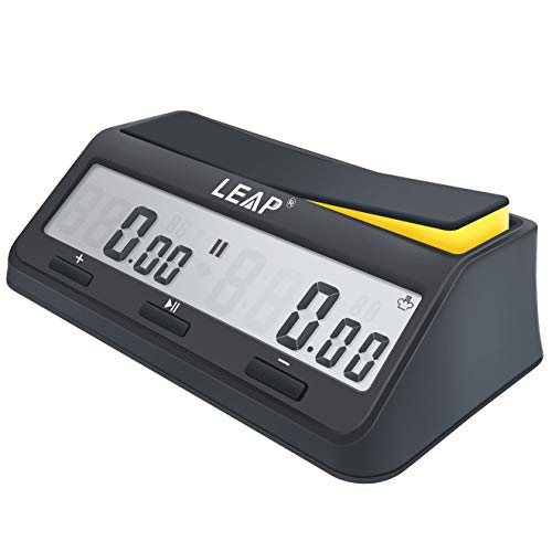 LEAP Chess Clock Digital Timer Advanced for Game and Chess Timer with Bonus & Delay Count Down up Alarm