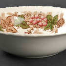 Wildbriar Brown Pink Rim Soup Bowl by Wedgwood | Replacements, Ltd.