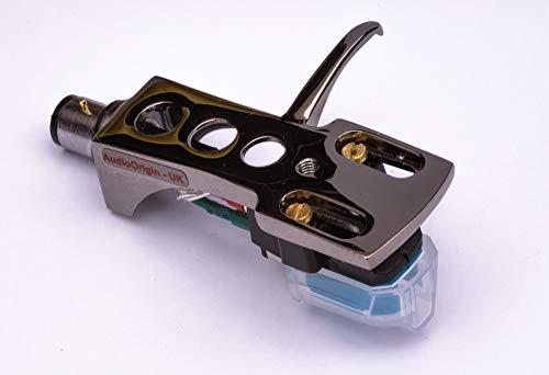 Spegel titan belagd skål, hållare med AT tonborttagare, nål för Pioneer PL100, PL112D, PL115D, PL117D, PL120, PL300, PL400, PL510, PL514, PL514X, PL550, PL570, PL1170