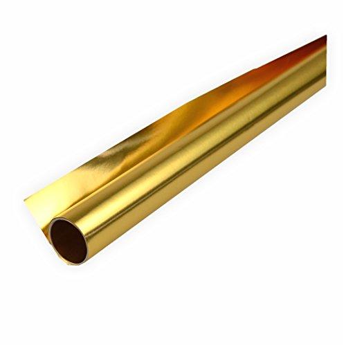 Alufolie gold/gold doppelseitig kaschiert 50 x 70 cm Bastelfolie