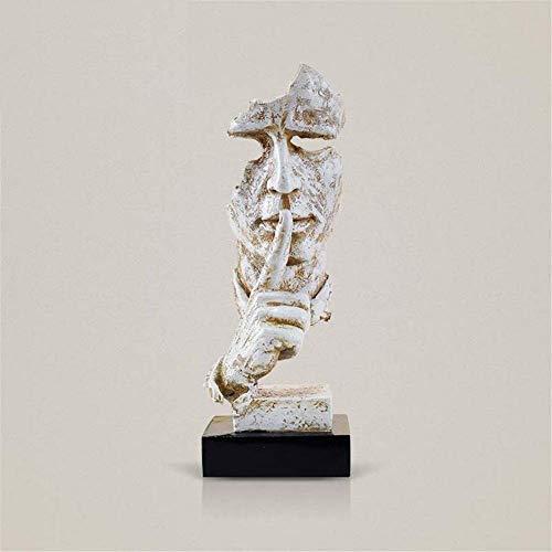 sdfif Semplice astratto vietato personaggio ornamenti, scultura moderna, ritratti, decorazioni creative per ufficio, ornamenti M 13 x 12 x 35 cm