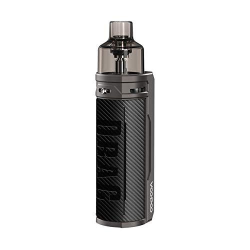 VOOPOO DRAG S Kit Pod System Box Mod Vape Kit with PnP coils 4.5ml cartridge 2500mAh battery 60W Electronic Cigarette Vaporizer (Carbon Fiber)