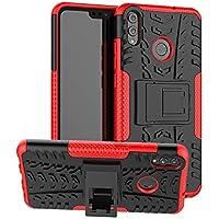 XINYUNEW Funda Huawei Honor 8X, 360 Grados Protective+Pantalla de Vidrio Templado Caso Carcasa Case Cover Skin móviles telefonía Carcasas Fundas para Huawei Honor 8X-Rojo