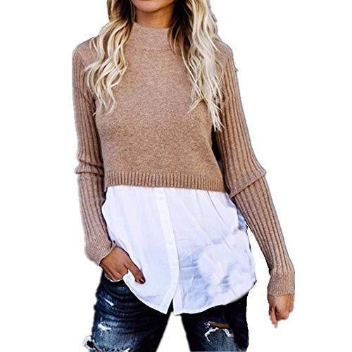 Kabxryaclo - Suéter para mujer con cremallera lateral y manga larga, mini vestido suelto para mujer