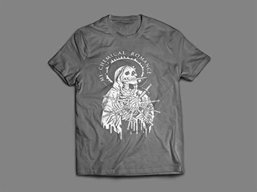 Camiseta/Camisa Feminina My Chemical Romance Gerard Way Tamanho:G;Cor:Cinza