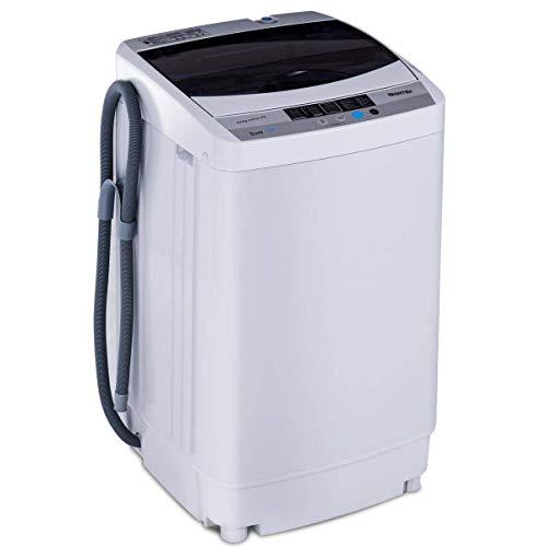 COSTWAY Lave-Linges Machine à Laver Automatique 10 Pprogrammes Affichage LED Capacité de Lavage 4, 5 kg Economie d'eau et d'Energie 500 x 503 x 853 mm Gris