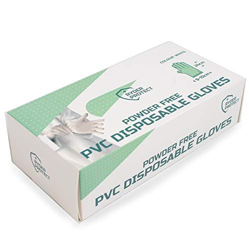 Gone Travelling Ryder Protect pulverfria PVC engångshandskar – 100-pack – storlek: L