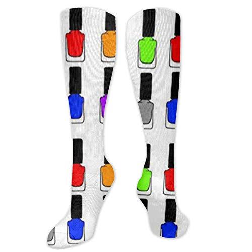 Jessicaie Shop Calcetines de esmalte de uñas Rainbow para hombres y mujeres, el mejor ajuste atlético graduado para correr, enfermeras, férulas de espinilla