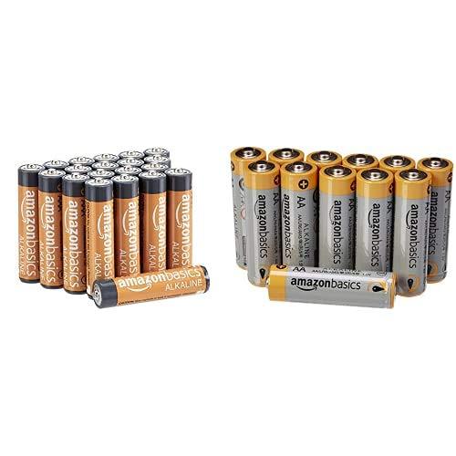 AmazonBasics - Pilas alcalinas AAA de 1.5 voltios + AmazonBasics - Pilas alcalinas AA 'Performance' (Paquete de 12)