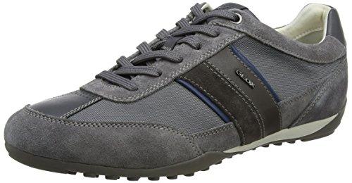 Geox U Wells C, Zapatillas Hombre, Gris (Dark Grey), 46 EU