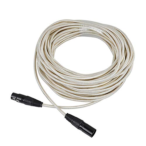 Cable de micrófono XLR macho a hembra (20 m)