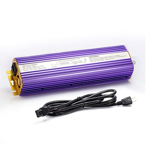 TOPHORT 1000W Digital Dimmable Electronic Ballast for 1000 Watts HPS MH Grow Light Bulb Lamp (1000W, Purple)