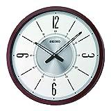 Seiko Clock, White, Brown