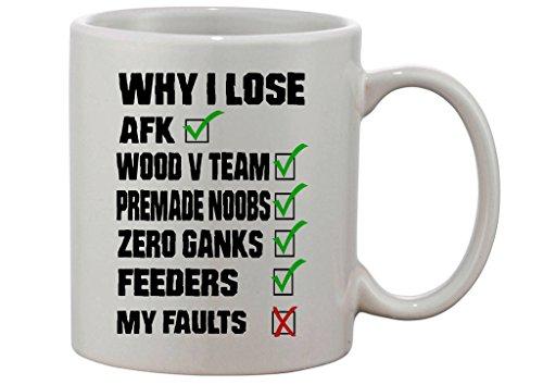 Gamer Quote Reasons Why I Lose Custom Made Mug