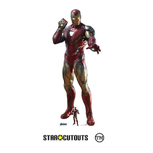 Star Cutouts Ltd SC1391 Iron Man Infinity Gauntlet Endgame Collectors Edition, lebensgroß, Pappaufsteller perfekt für Marvel's Avengers Fans, Partys, Raumdekoration und Fotos, 191 cm hoch, Mehrfarbig