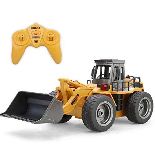 RC Auto kaufen Baufahrzeug Bild: omufipw 2,4 G Funksteuerung Bulldozer Frontlader Baufahrzeug Elektronisches Spielzeug RC Truck Traktor Junge Geschenk*