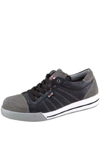 2W4 S3 Sicherheitsschuh Ryan/Slate im Sneaker Style,Q-Flex Sohle, Kunststoffkappe (36 EU, Schwarz/Grau)