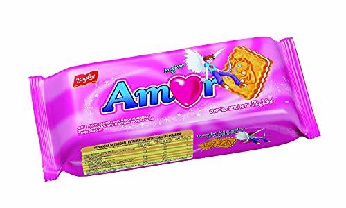 Amor Galletas dulces sabor vainilla rellenas 112g