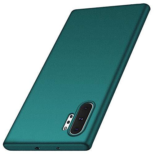 Funda Samsung Galaxy Note 10 Plus, Anccer Ultra Slim Anti-Rasguño y Resistente Huellas Dactilares Totalmente Protectora Caso de Duro Cover Case para Samsung Note 10+ (Grava Verde)