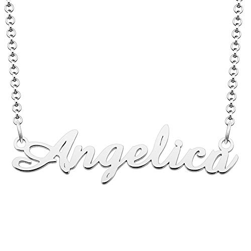 EV.YI Jewels Angelica Name Necklace Prom Baseball Kay Jewelers Stand Bird Christopher Family