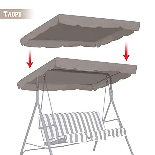 SmallPocket Swing Top Cover Replacement Canopy Waterproof Replacement Roof Universal Swing Hammock Sun Canopy 3-seater Outdoor Garden Patio Furniture Dust Cover Balcony Sunshade