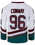 Camiseta de hockey sobre hielo Charlie Conway #96 Mighty Ducks Verde/Blanco - blanco - Small