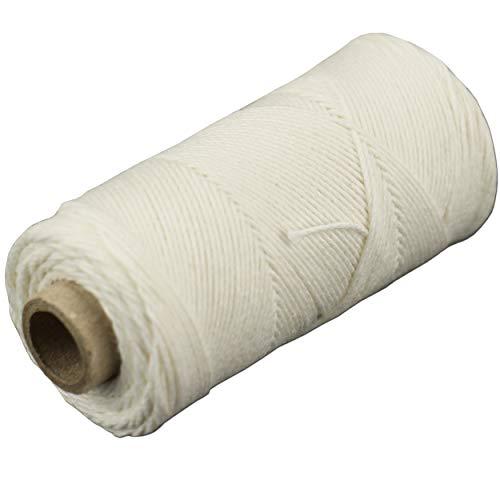 trendmarkt24 Küchengarn aus Baumwolle Lebensmittelunbedenklich 1mm Ø x 100 m in weiß | Bäckergarn Baumwollschnur Wurstgarn Paketschnur Baumwollgarn Würstchen Wurstschnur Natur Garn | 212501-1-A