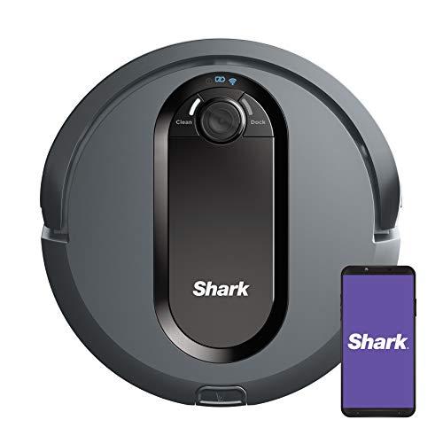 Shark IQ Robot Vacuum AV970 Self Cleaning Brushroll, Advanced Navigation, Perfect for Pet Hair, Works with Alexa, Wi Fi, xl dust bin, A black finish
