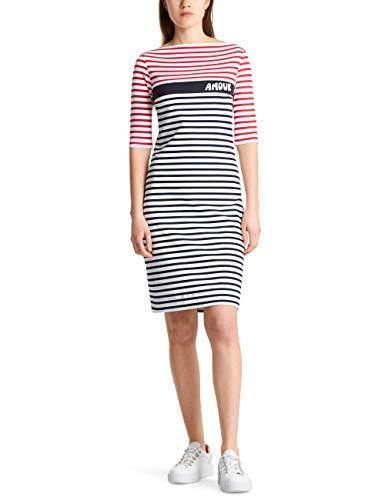 Marc Cain Sports Damen MS 21.15 J90 Kleid, Mehrfarbig (Midnight Blue 395), 40 (Herstellergröße: 4)