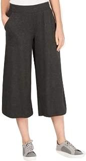 Ideology Wide-Leg Cropped Pants Dark Grey Size XL