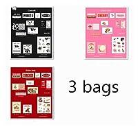 独立して バターミルクキッチンシリーズステッカーDIYスクラップブッキングベースコラージュモバイルコンピューターハッピープラニングデコレーションステッカー 共同パートナーシップ (Color : D 3bags)