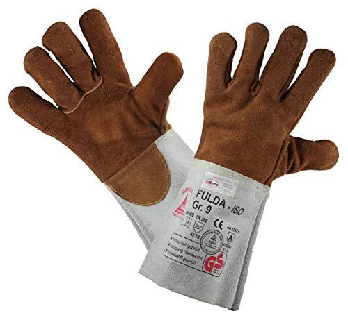 Hase Schweißschutzhandschuhe FULDA-ISO - Hitzebeständig/Kevlar-Garn, Braun, 10