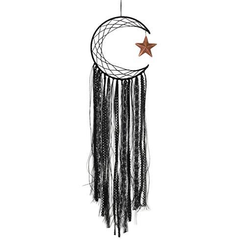 VOSAREA CACADOR DE sonhos Lua e Estrela, feito à mão, tradicional, borla para pendurar na parede, decoração de casa